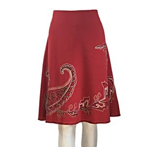 Karen Kane Paisley Embroidered Skirt size 8